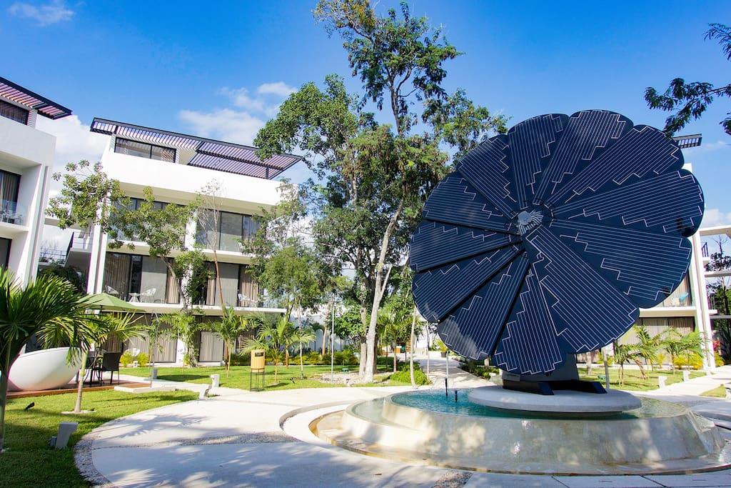 Solar panels providing clean energy