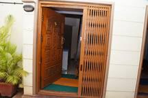 Separate Entry Door to the Second Floor