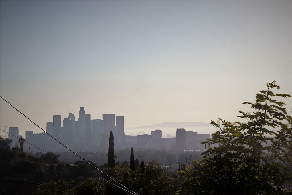 View of the city of LA from the St.