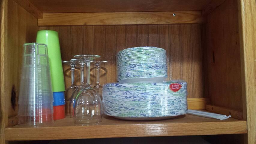 Paperware and glasses