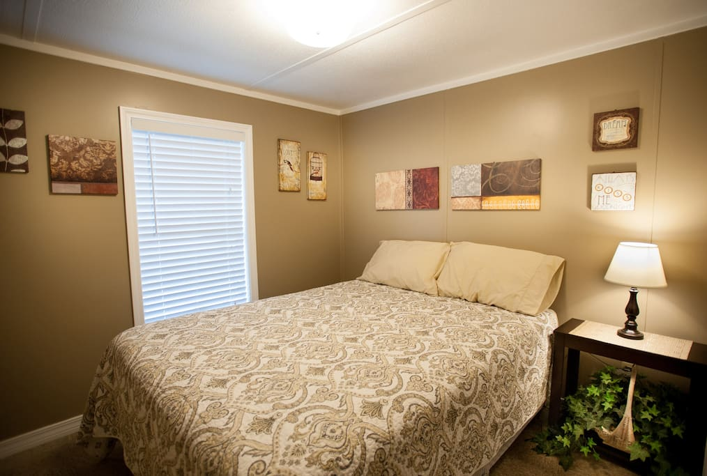 The cabin has one bedroom. we can also provide you with a rollaway bed for a kid. We also have other cabins with more rooms.