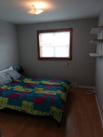 Spacious bedroom in ocean view house