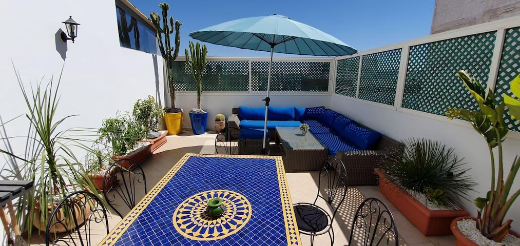 Le bon appartement centre ville avec terrasse 30m2
