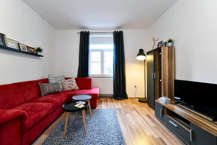 Brand NEW city apartment with private PARKING