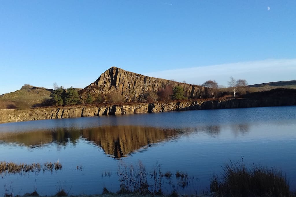 Nearby Cawfields Quarry at Hadrians Wall.