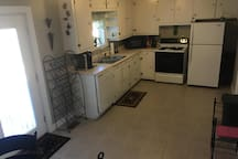 Kitchen from dining area.