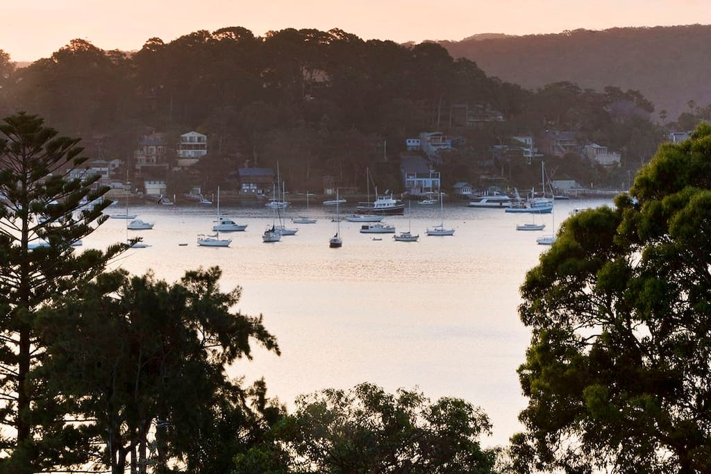 View of Pittwater from the deck