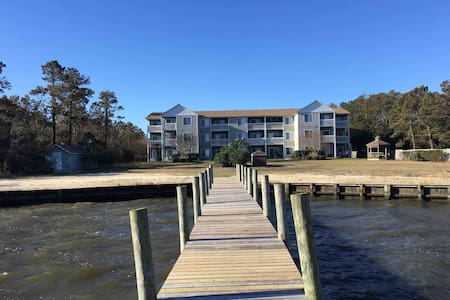 Roanoke Island Waterfront Condo  Couples Getaway