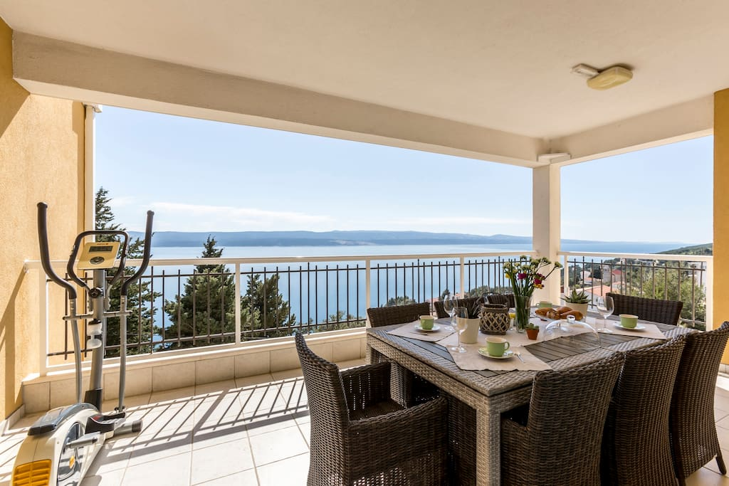 Loggia with sea view