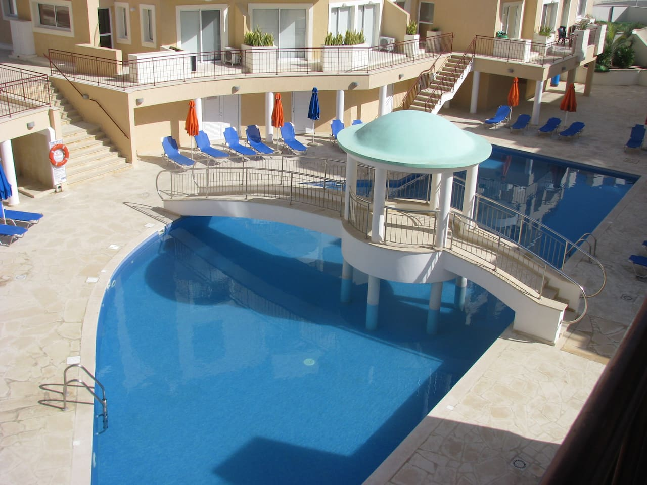View of the main pool from the apartment