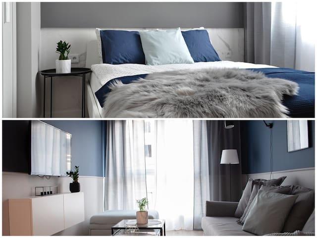 NavyBlue | 2 separate rooms | FREE GARAGE |SmartTV