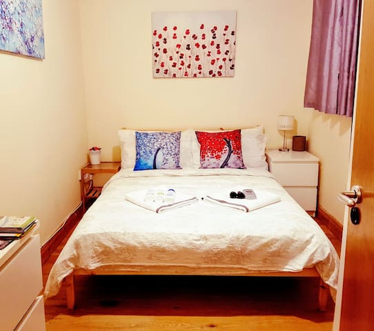 Comfy dbl. bedroom - close to CityCentre & Airport - Dublin - Huoneisto