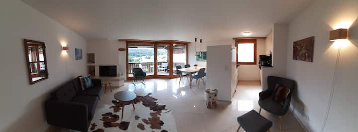 Fewo Cordial im Casa Erizun, (Flims Dorf), holiday accommodation 60 m2 with bathroom for max. 4 pax + 1 baby