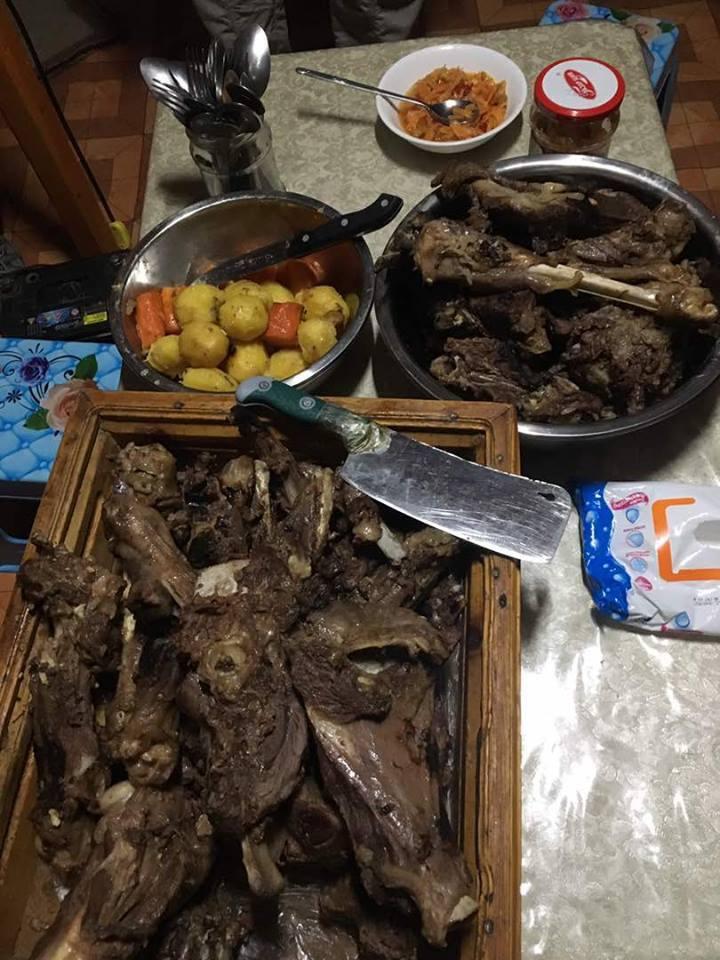Mongolian barbecue khorkhog