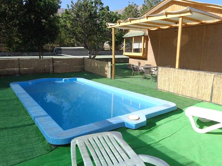Amplia cabaña c/ piscina exclusiva en V. de Elqui