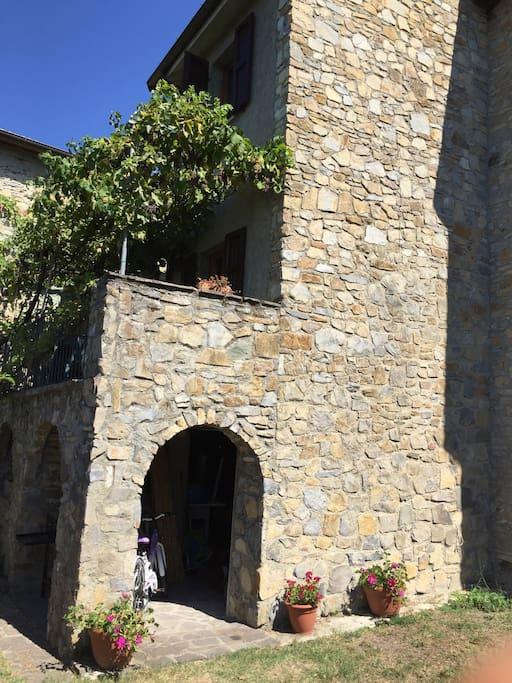 Balcony under grape vine
