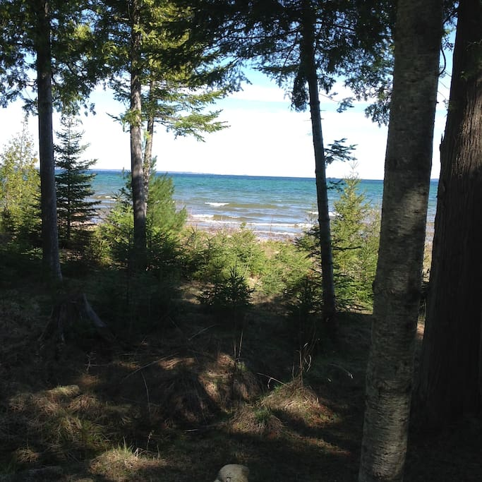 View of Lake Huron from yard.
