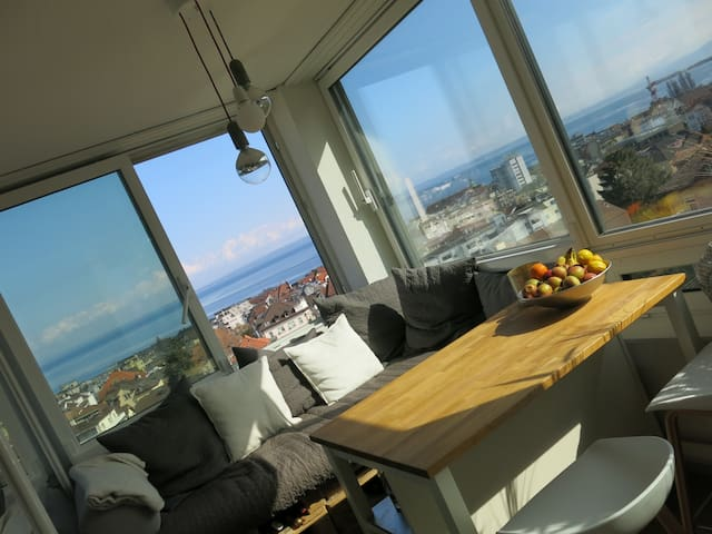 Apartment with a stunning view - Rorschach - Daire