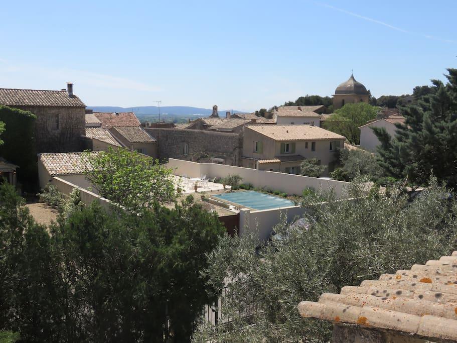 Vue du village depuis la véranda