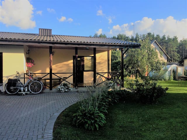 Homelike place with sauna in Lithuanian village