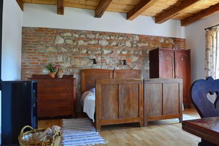 Spacious room in modernized farmhouse