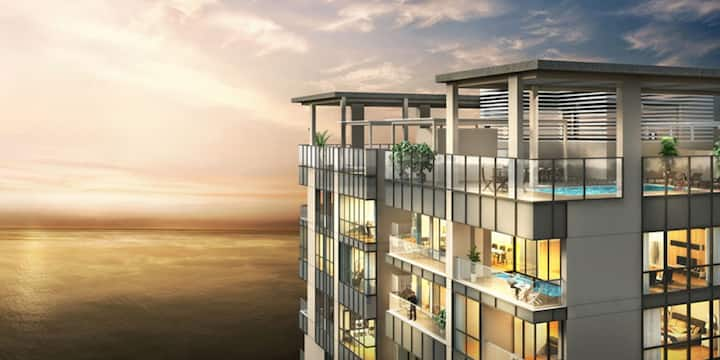 Entire Penthouse style apartment- at One Galleface