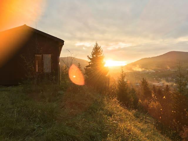 Дом для двоих с красивым видом - Slavs'ke - Huis
