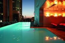 Rooftop bar/pool at Standard Hotel down the street.