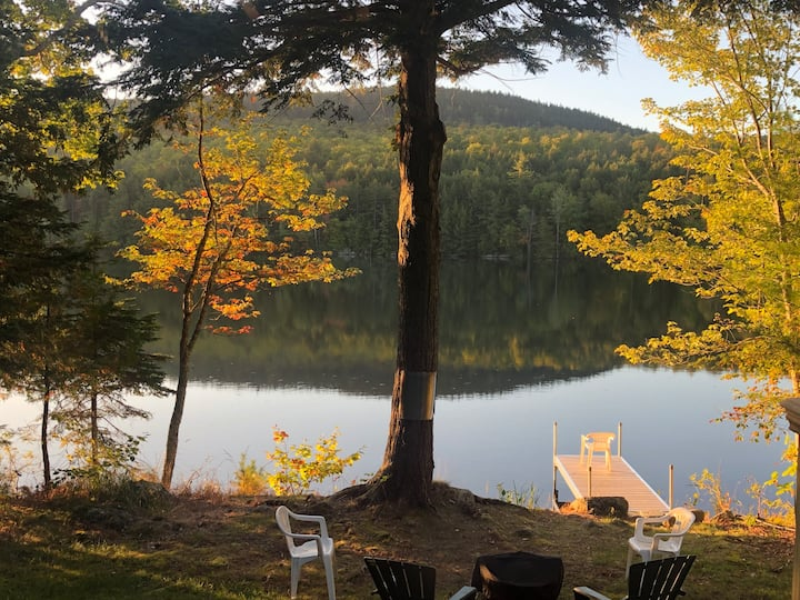 Camp on pond, near Bangor, Bucksport & Bar Harbor!