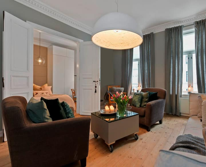 Oslo West,'Frogner-2 bedrooms/balcony & fireplace