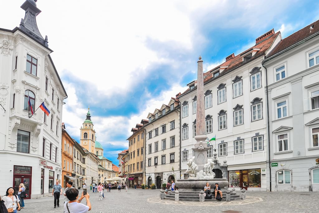 We are located in the heart of Ljubljana, right next to famous Robba fountain