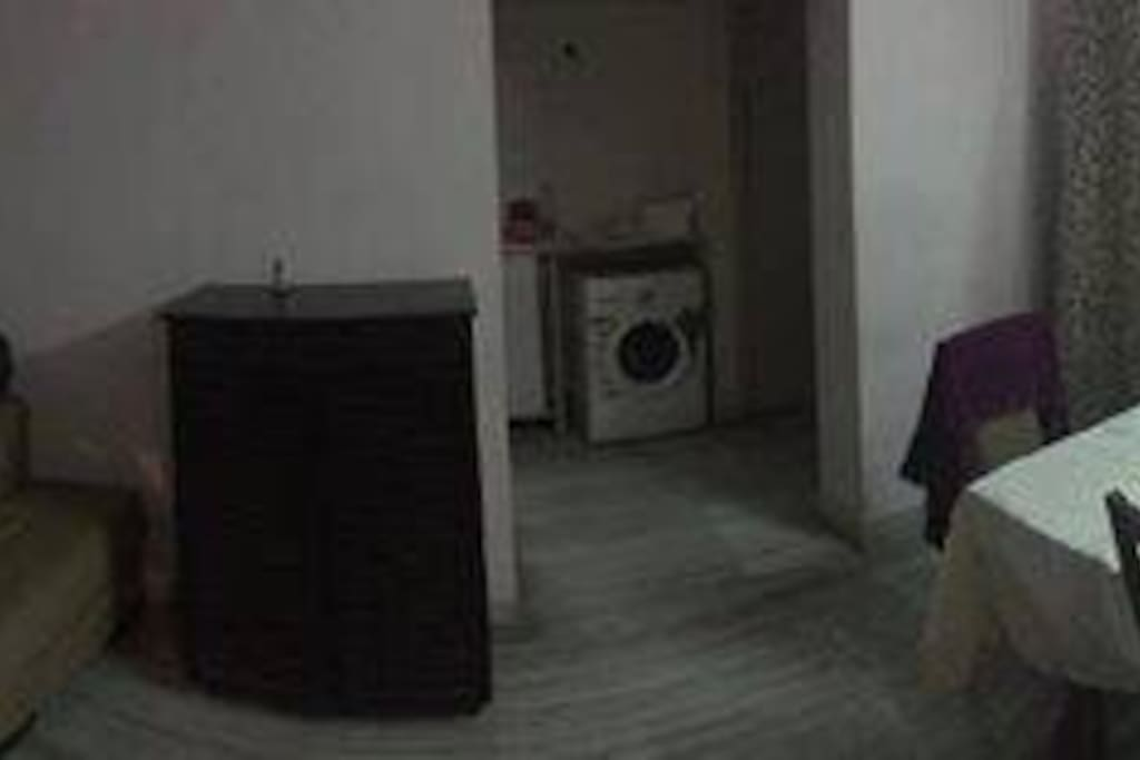 Washer and Dining Area