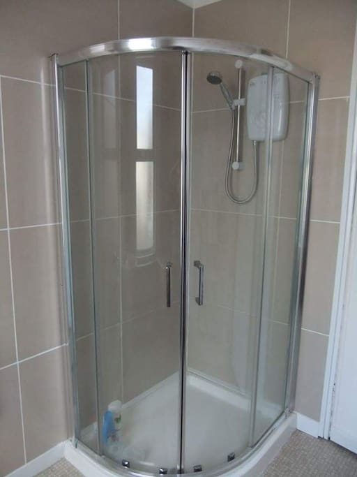 one of the shared showers