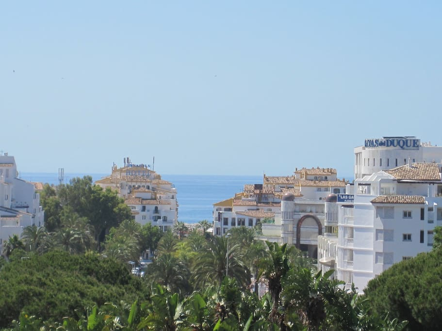 There is a wonderful view of the Mediterranean from the terrace.