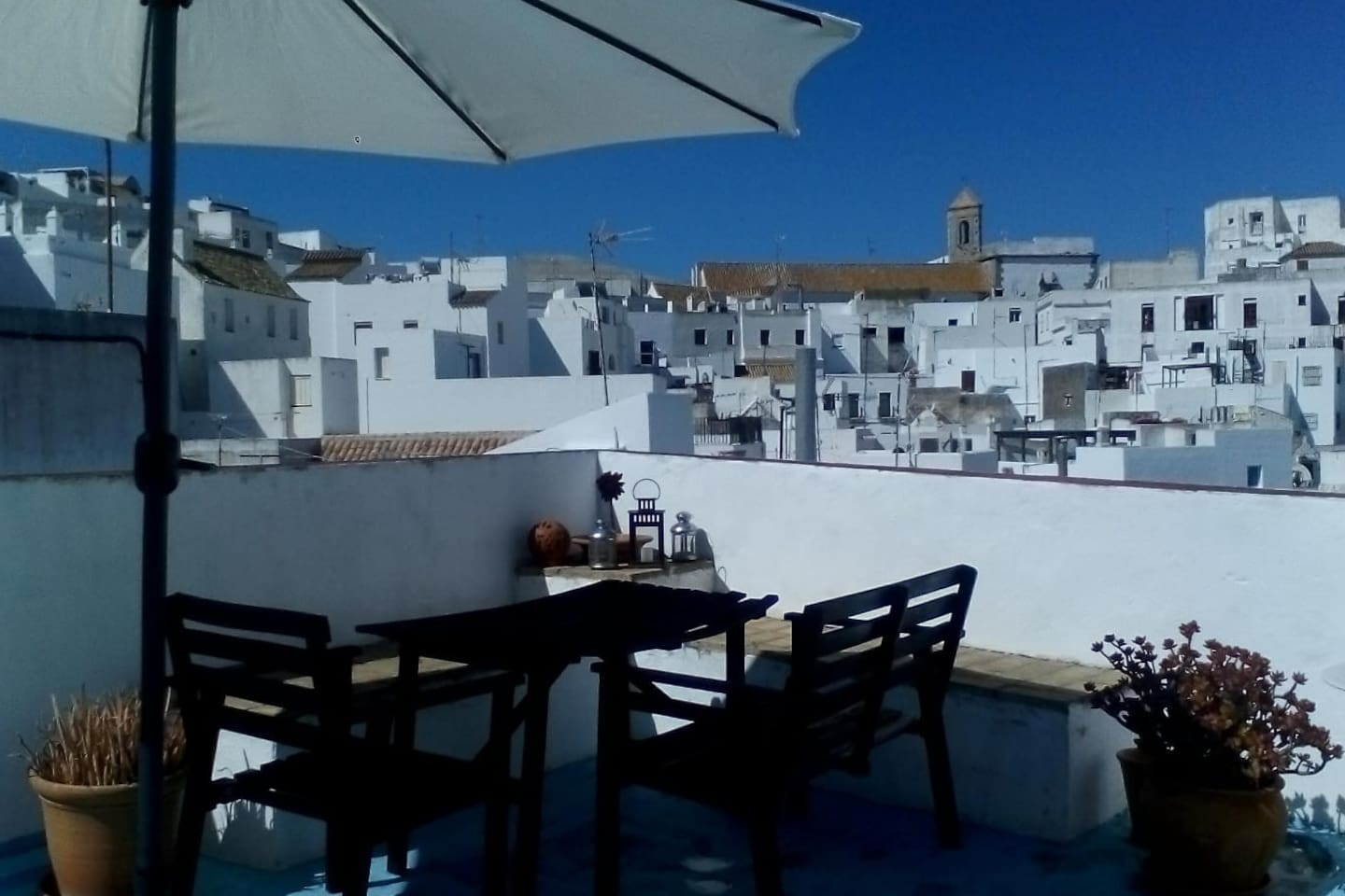 Views from the roof top terrace - welcome to Vejer!