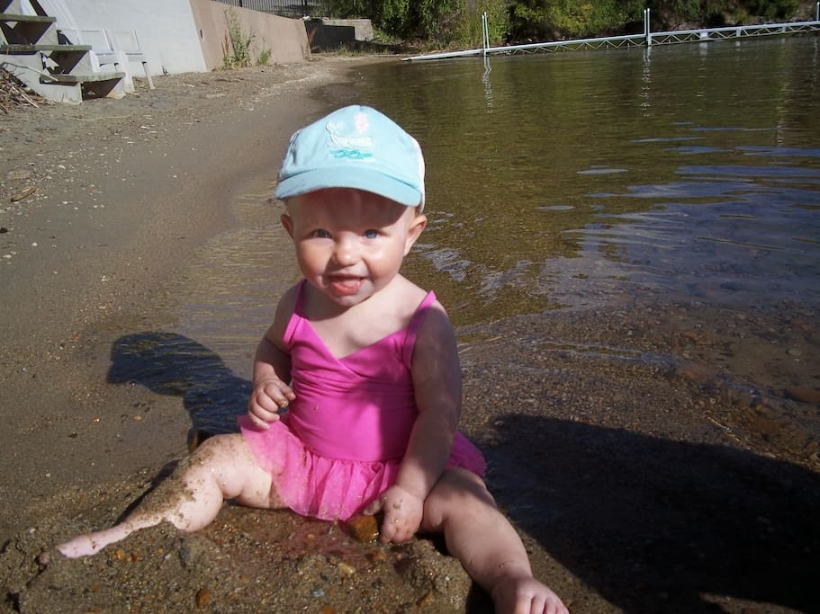 Our beach is great for kids - the water is shallow and gets deeper gradually with no sudden drop-offs.