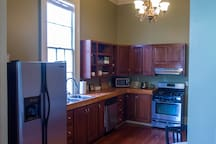 Eat-in Kitchen that includes all you need! (Full kitchen, Dishes, silverware, cookware, coffeemaker, tea kettle, toaster, microwave...)