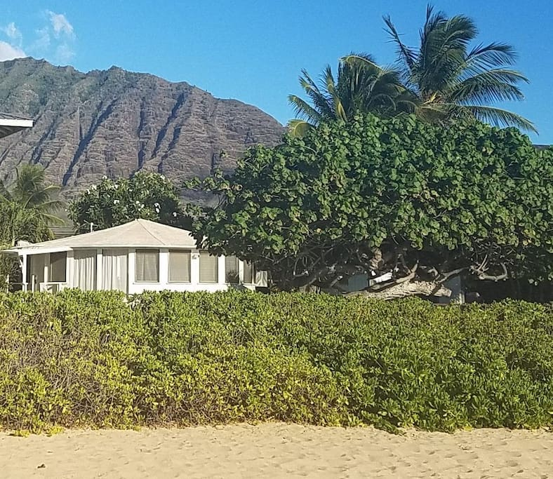 Makai Bungalow from the beach