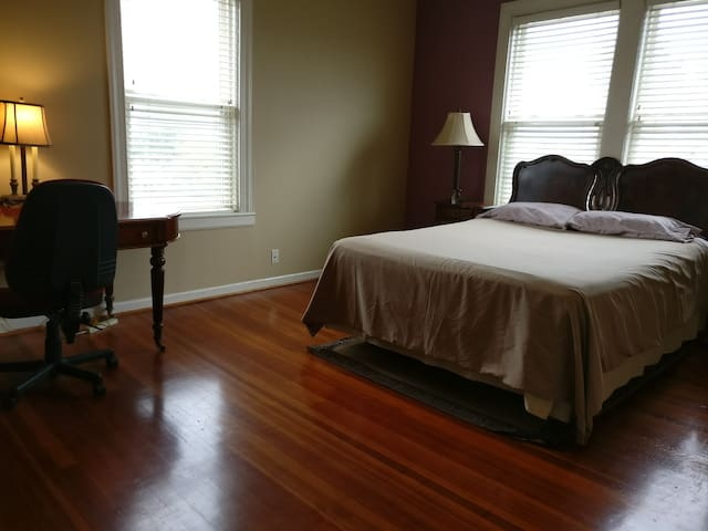 The second bedroom with queen bed.