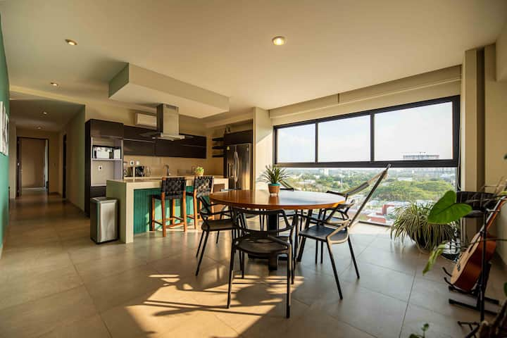 Luxury Apartment in Mérida 4 guests/2.5 baths