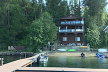 House view from the lake