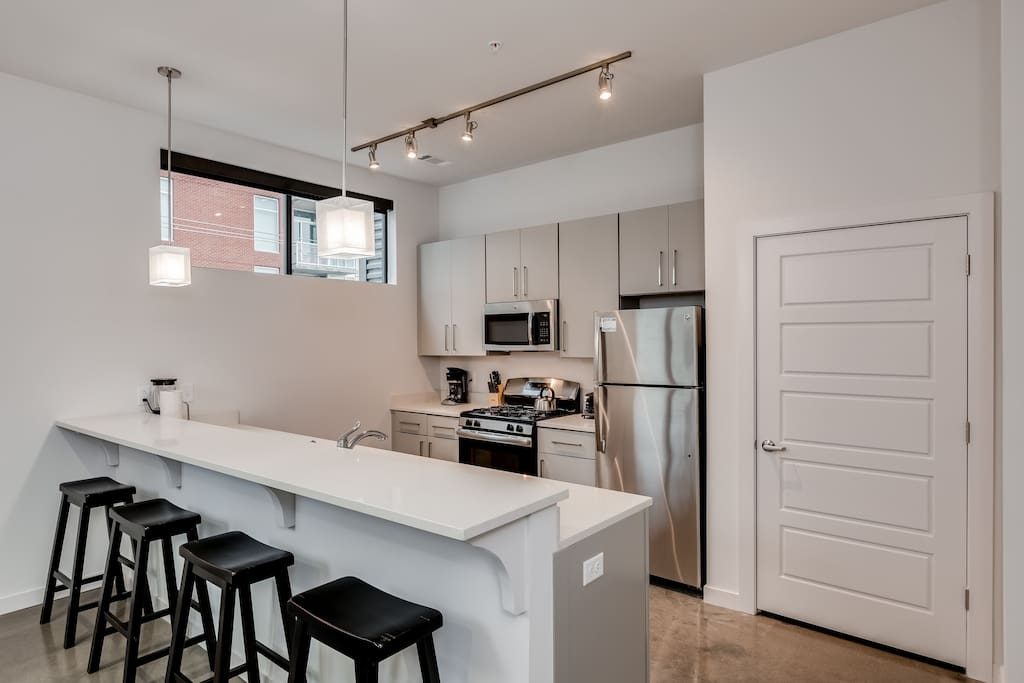 Kitchen at The James by Stay Alfred