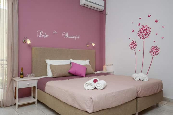 Deluxe Twin Room With Partial Sea View Ground Floor - Panormos Hotel Naxos