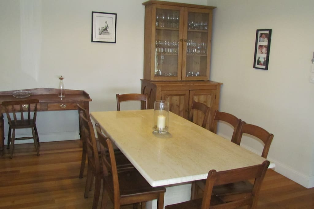 Large family size dinning table with sideboard