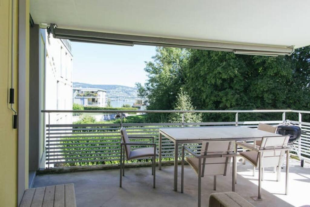 lake facing balcony