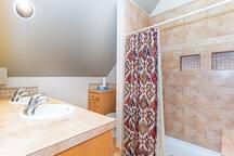 Master bath-stand up shower