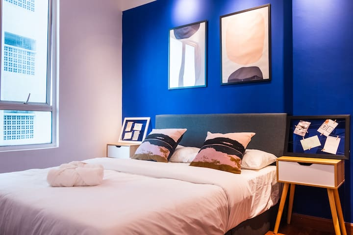 #3 Queen Room @HUT CoLiving KLCC 2 | 500 Mbps WiFi