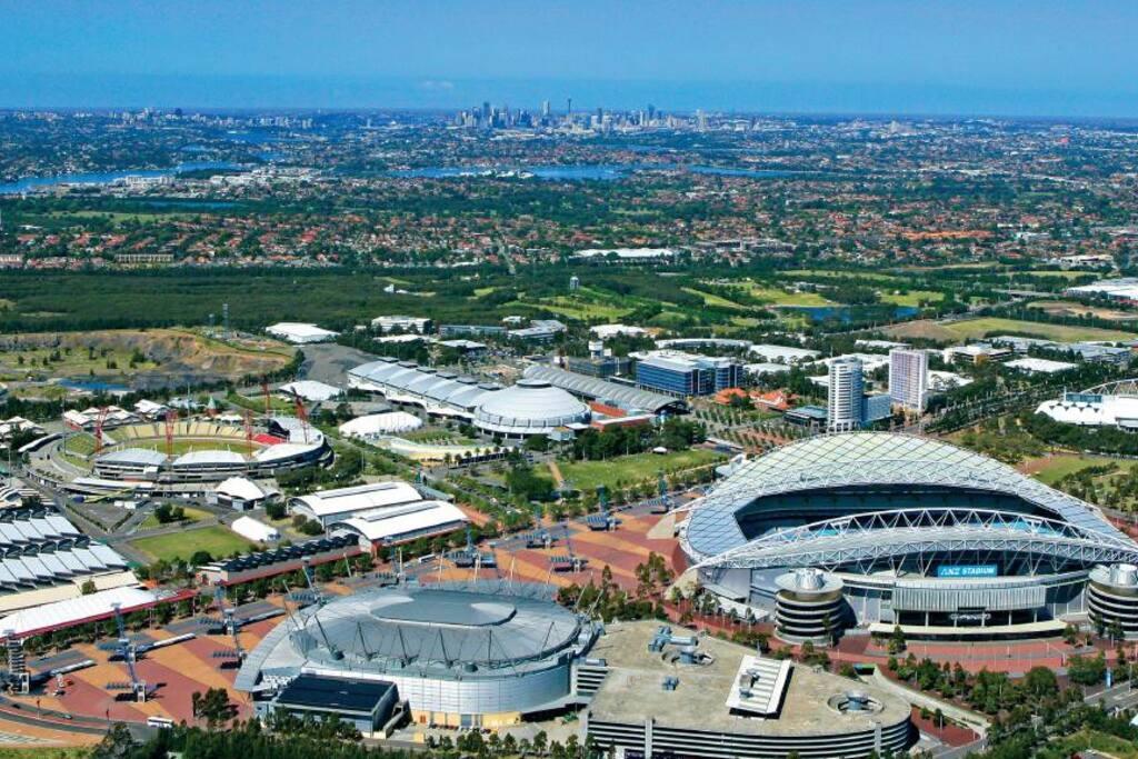 Snapshot of Sydney Olympic Park