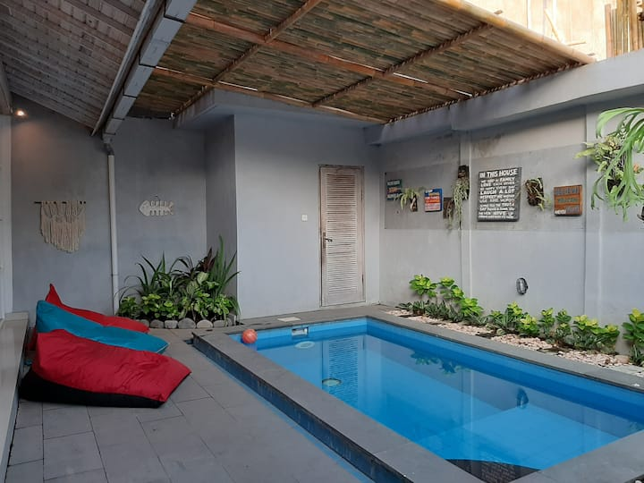 Canggu private well set villa fast wifi smart TV♡