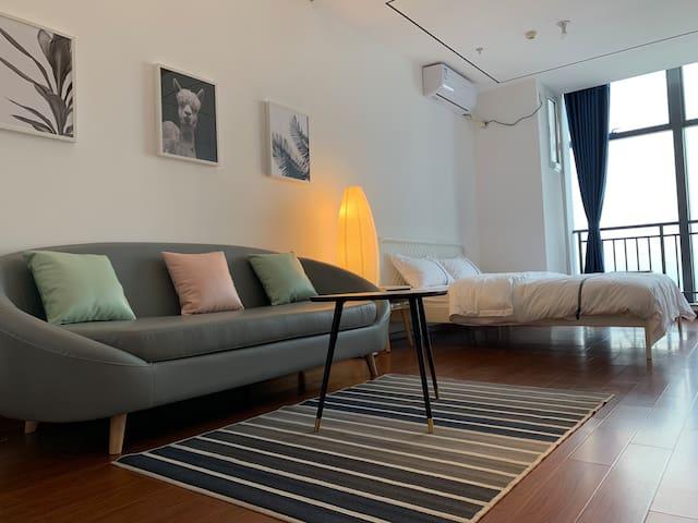 越溪《网红ins》现代酒店式公寓地铁口五星床品配套齐全 预约入住